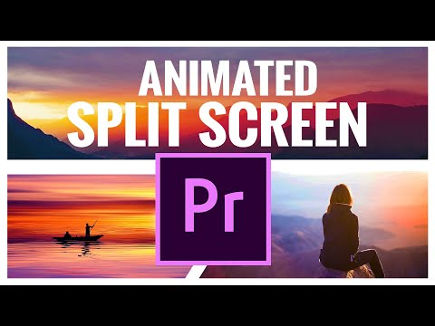 Animated SPLIT SCREENS In Premiere Pro CC - Video Editing Tutorial