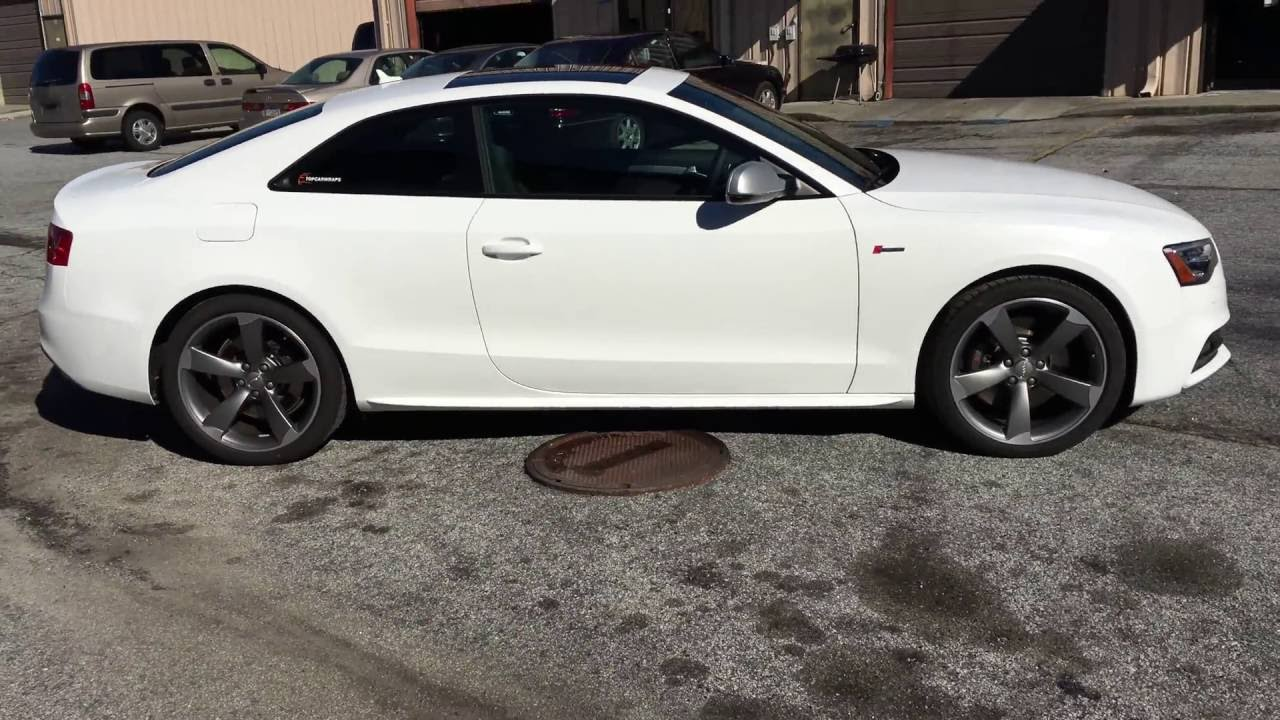 Audi A5 S5 Vinyl Wrapped In Satin White With Matte