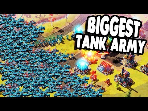 Insane TANK SWARM vs. HUGE BASE Command & Conquer Style | Forged Battalion Gameplay