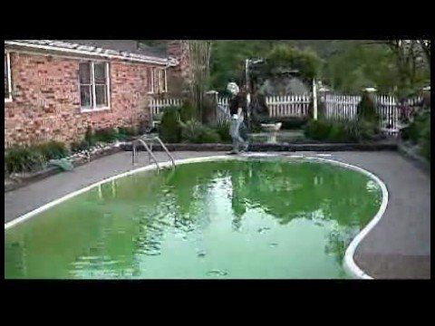 Removing Algae From A Swimming Pool Shocking Swimming Pool Water Youtube