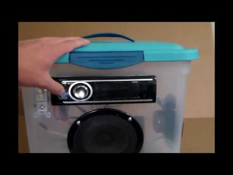 how to make a boombox with car stereo