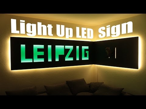 How to make a Huge Light Up LED Sign