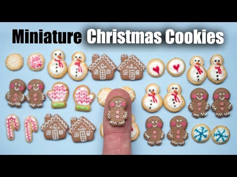 Polymer Clay Christmas Tutorial, Miniature Cookies Earrings or Dollhouse Minis