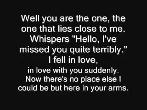 Hellogoodbye - Here in your arms lyrics
