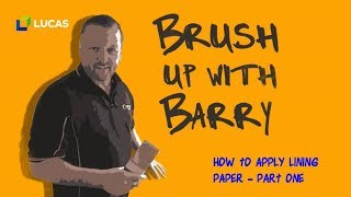 How to Apply Lining Paper- Part 1