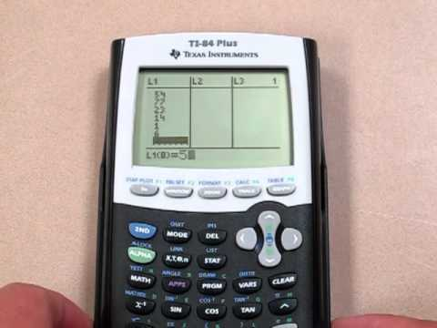 List Basics For TI-84 And TI-83 Plus Calculator