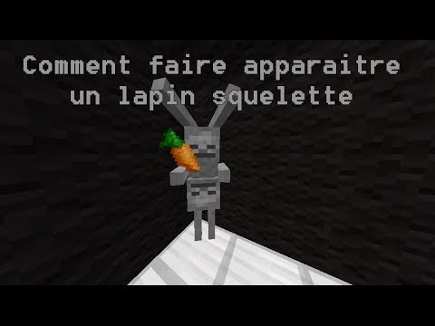 tuto astuce minecraft comment faire apparaitre un lapin squelette youtube. Black Bedroom Furniture Sets. Home Design Ideas