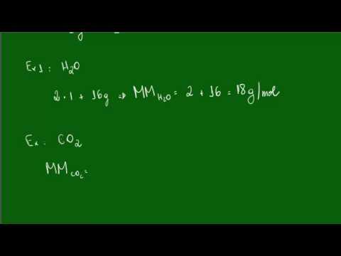 Cálculo Da Massa Molecular