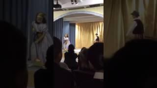 Давид в роли отца золушки в школьном спектакле