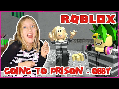 Going to Prison in an OBBY!  Escape the Prison + Rob The Bank OBBY