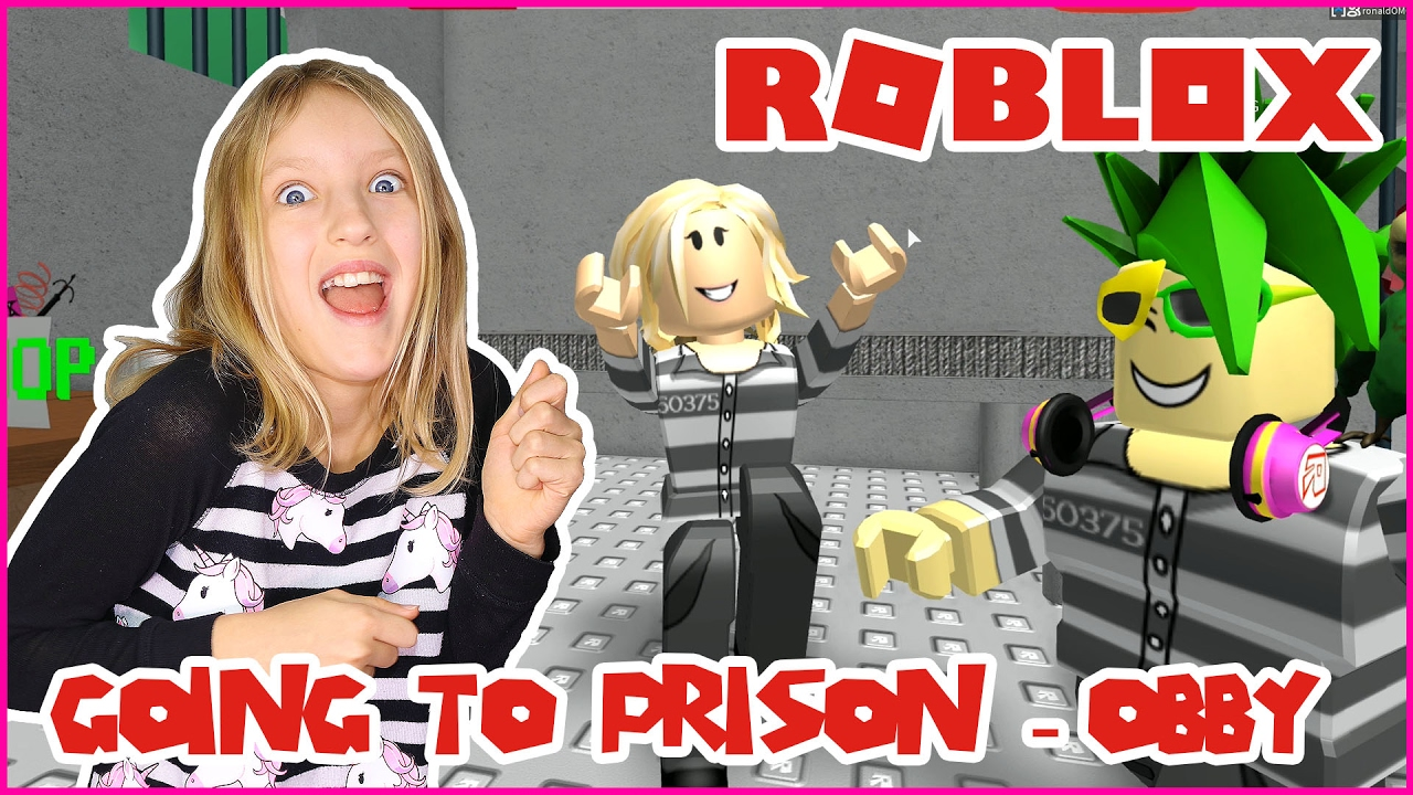 Going To Prison In An Obby Escape The Prison Rob The Bank Obby