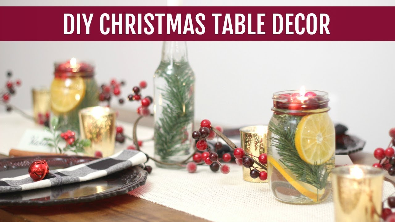 Diy Christmas Table Decorations And Tablescape Ideas Katie Bookser