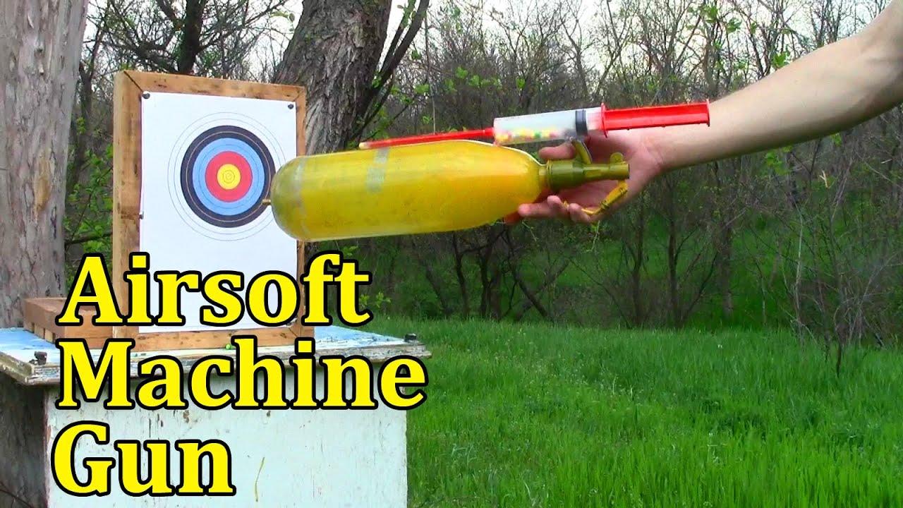 how to make an airsoft machine gun