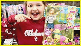 Toy Shopping At Walmart For BARBIE Walk and Potty PUP Playset Unboxing