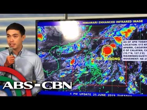 PAGASA briefing on Tropical Depression Dodong | 25 June 2019