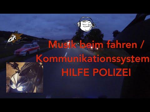 Musik auf dem Motorrad / Kommunikationssystem Sena / Polizei  -  Z1000 MotoVlog #6  [Deutsch]