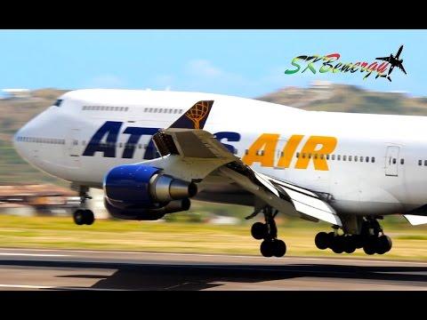 Epic Visit !!!! Atlas Air 747-400 arriving @ St Kitts Robert L. Bradshaw Int'l Airport