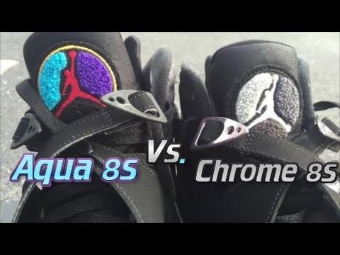 air jordan 8 aqua vs chrome