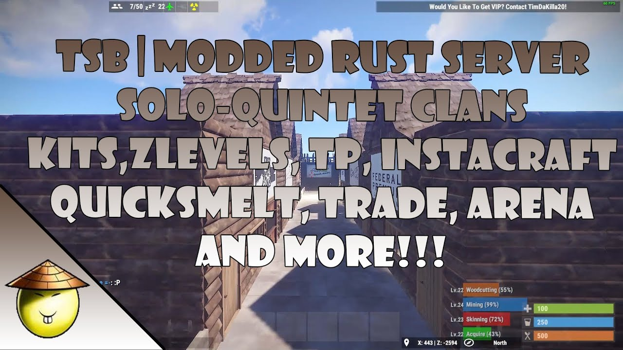 TSB | Modded Rust Server | 60+ Plugins | Solo-Quintet | Leveling, Kits,  Town, Trade, Arena, ETC