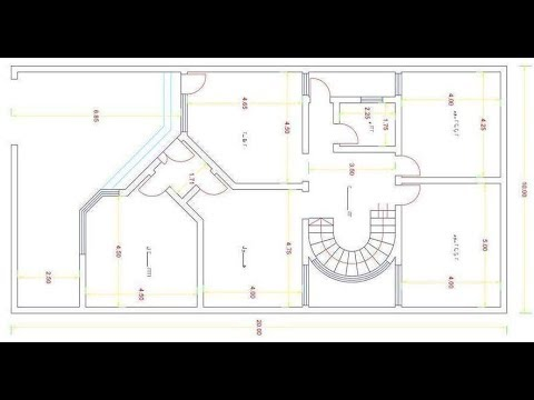 autocad 2D dessin floor plan drawing parte1