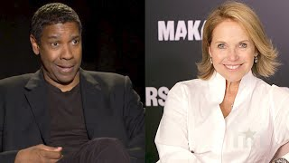Denzel Washington Shades Katie Couric … But He Did The Same Thing To Us Too!