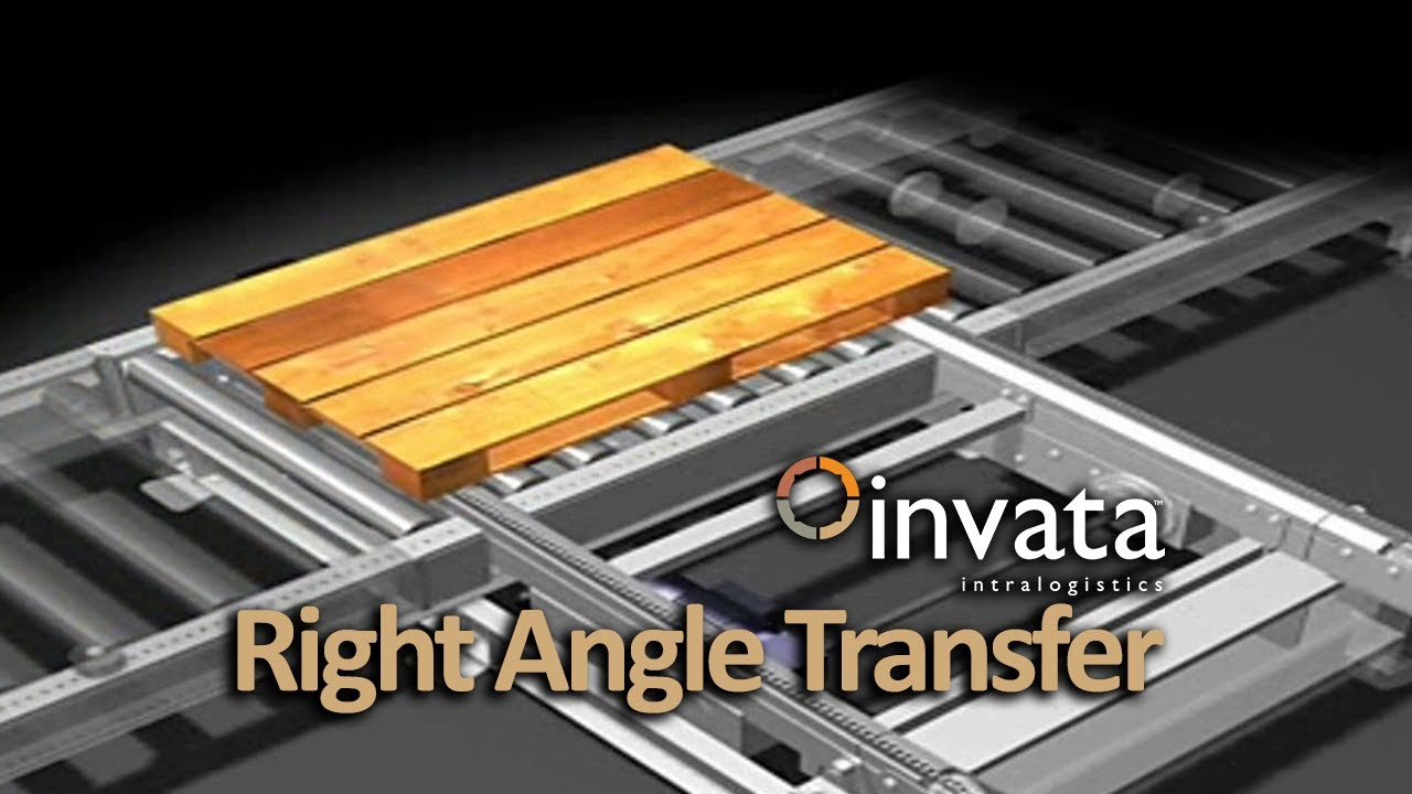 Right Angle Pallet Transfer Invata Intralogistics Youtube