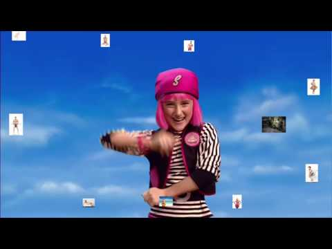 "LazyTown You Are A Pirate but every time ""Pirate"" is said the pitch is shifted down 5%"