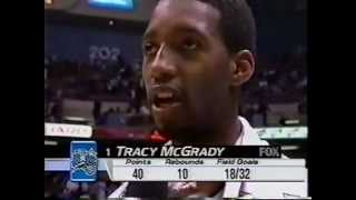 tracy mcgrady highlights 40pts vs nets first career 40 game 12 02 2000