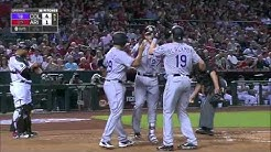 COL@ARI: Trevor Story hits his first career home run in debut