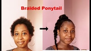 SLEEK PONYTAIL FOR SHORT NATURAL HAIR | STEP BY STEP