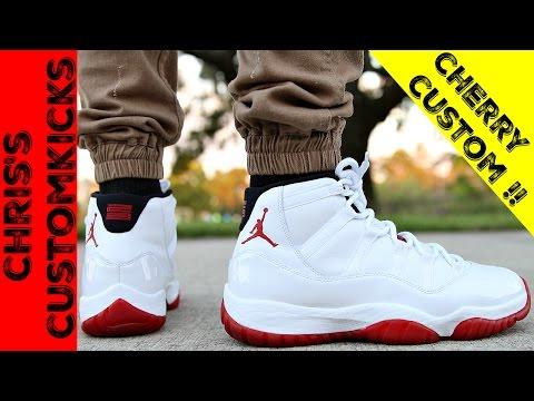 Jordan 11 Cherry mid Custom Full
