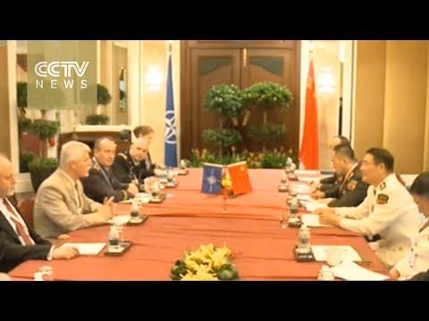 Admiral Sun meets EU, NATO military chairmen