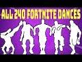 *ALL* 240 Fortnite Dances/Emotes (Season 1 to Season X)