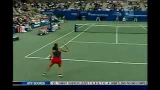 [HL] Justine Henin vs. Jennifer Capriati 2003 US Open [SF] [1/2]