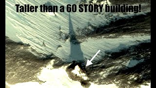 How did a TOWERING structure casting a LONG shadow show up at the BOTTOM of Earth?