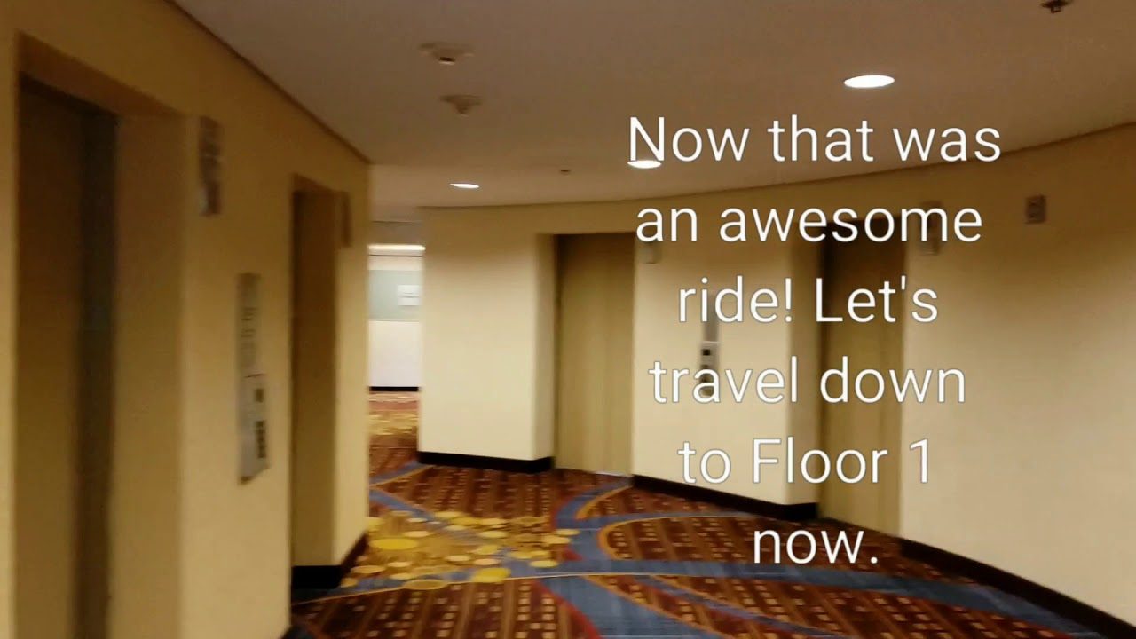 grande vente 37b74 aa4f7 New York Marriott Marquis Schindler Miconic 10 Elevator cars D/E ride from  floors 8-42 & 42-1