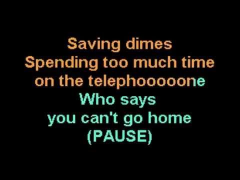 Who Says You Can't Go Home Bon Jovi Jennifer Nettles karaoke male version CustomKaraoke custom