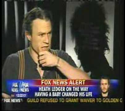 Heath Ledger talking about death