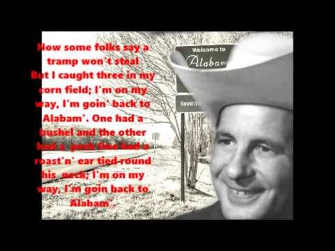 Alabam' Cowboy Copas with Lyrics
