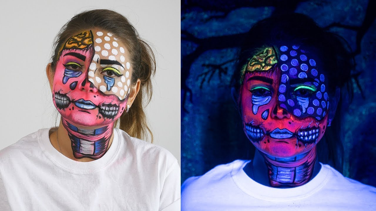 Easy Face Painting Pop Art Zombie Makeup Arteza