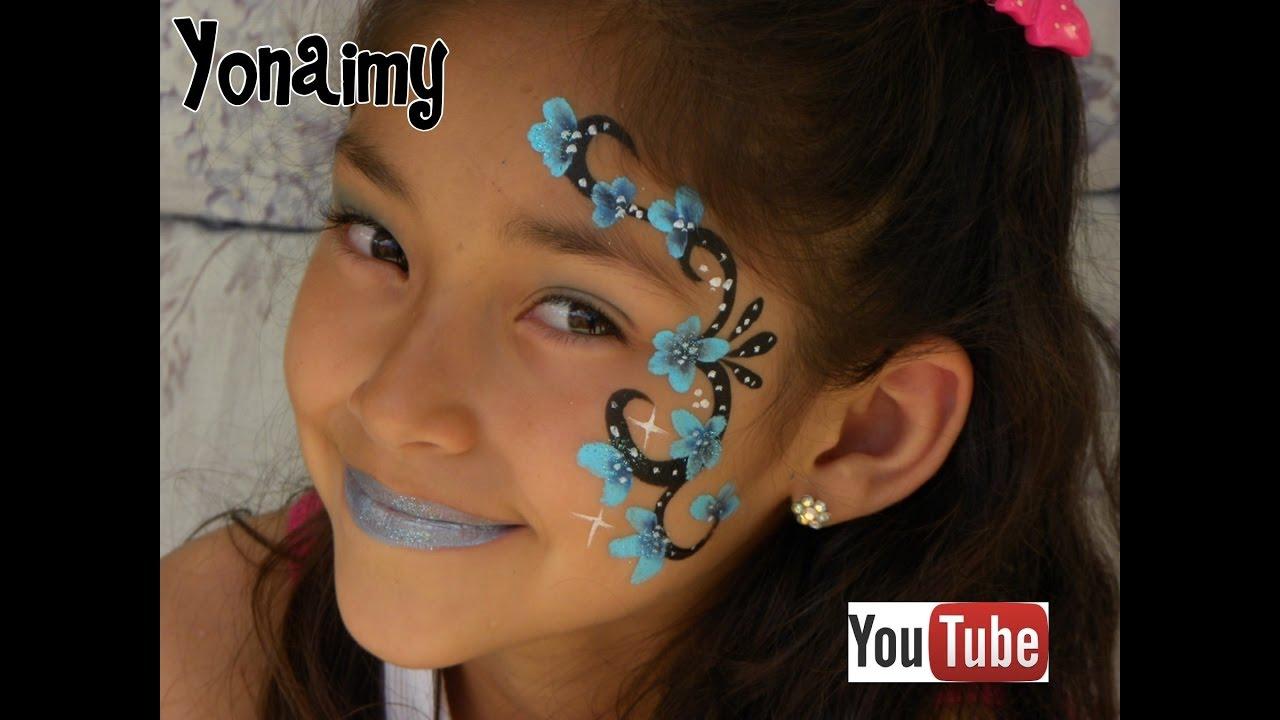 Dise o de pintacaritas para ni as facil y rapido easy - Como pintar la cara de nina de bruja ...