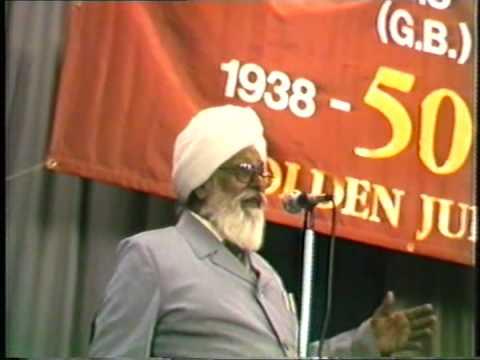 Harkishan Singh Surjeet classic speech at the Golden Jubilee  of IWA(GB)
