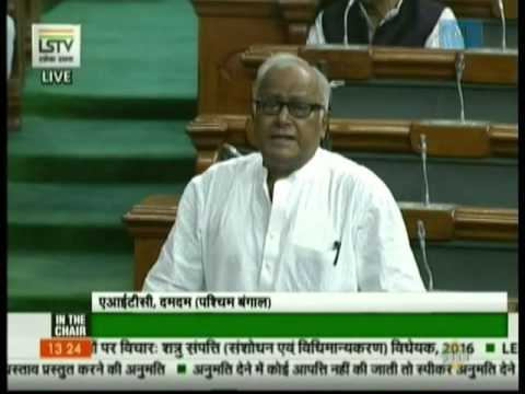 Saugata Roy speaks in Lok Sabha on The Enemy Property (Amendment and Validation) Bill, 2016