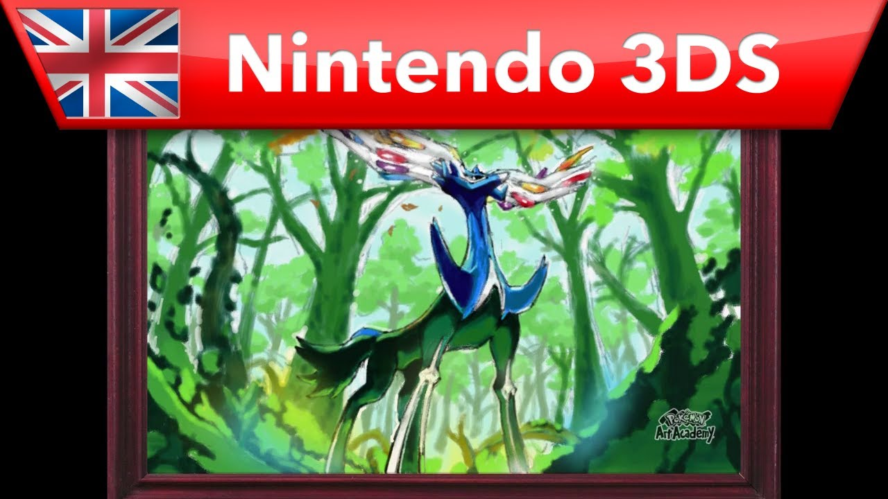 How to draw Xerneas - Pokemon Art Academy (Nintendo 3DS)