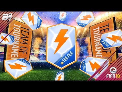 TEAM OF THE TOURNAMENTS IN A PACK! 100K PACKS! | FIFA 18 ULTIMATE TEAM