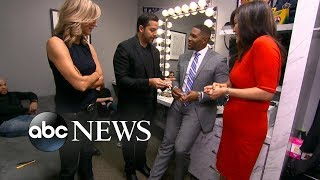 Magician David Blaine performs tricks on 'GMA'