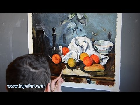 Art Reproduction (Paul Cezanne - Still Life with Fruit) Hand-Painted Oil Painting