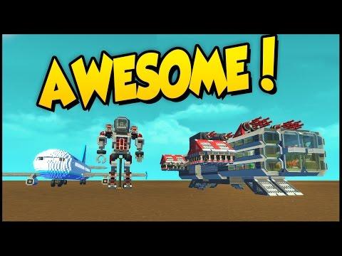 Scrap Mechanic ➤ Epic Mech, Insane Bipedal Walker, Massive Jet Plane, & Centipede!