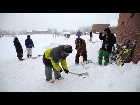 Snowstorm Rail Jam at New Vista High School