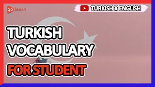 Learn Turkish |Part 10: Turkish Vocabulary For Student | Golearn